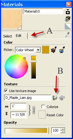 Specify texture image.jpg