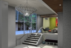 Interior Staircase Rendering